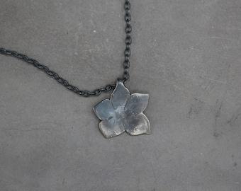 Floral Jewelry, Flower pendant, Silver flower necklace, Floral pendant, Bridesmaid floral necklace ,Chain necklace , Blossom flower pendant