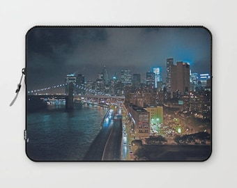 NYC laptop sleeve, skyline laptop case, New York City Skyline, NYC Skyline computer case