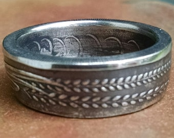 Singapore Coin Ring - 50 Cents Coin Ring 1972 - Size 8