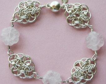 Chainmaille Bracelet English Rose Garden