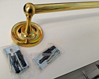 """Taymor 04-PB8218 Classique Concealed Series 18"""" x 5/8"""" Towel Bar Polished Brass"""