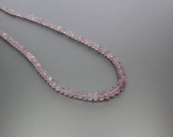 Morganite Faceted Rondelle 4.5 to 8mm AA Necklace for women
