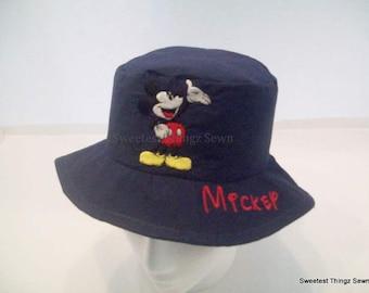 Bucket Hat/ Handmade Sun Hat/ Mickey Mouse Hat/ Disney Hat