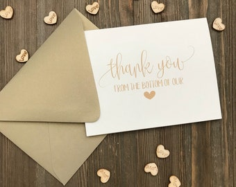 Gold Thank You Cards - Blank Cards - Wedding Thank You Cards - Ivory and Gold Wedding Thank You - Blank Note Cards - Personalized Note Cards