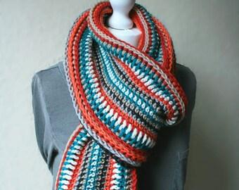 Crochet Scarf Pattern - Fox Lane Infinity Scarf - 3 sizes - PDF infinity scarf crochet pattern