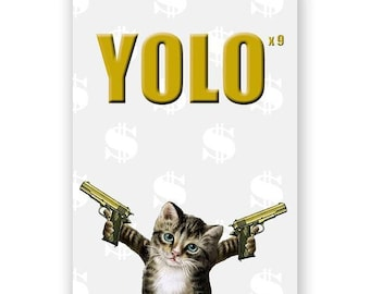 Yolo Cat - JOURNAL - Humor - Gift