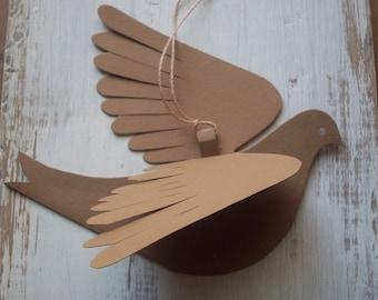 Paper Birds--Molly Bird--Five Natural Birds