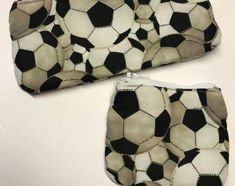 Wallet, change purse, set, soccer