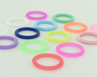 100 O-Rings - Colorful Silicone Dummy / Pacifier Clips Adapters (Choose Color(s)) for Nuk MAM Button Style Pacifiers