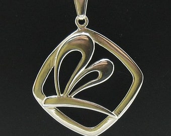 PE000263 Sterling silver pendant  925 dragonfly charm solid