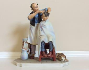 """Norman Rockwell """"Summer-Shear Agony"""" figurine, Gorham."""