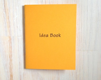 Medium Notebook: Idea Book, Idea Notebook, Gold, Blank Journal, Wedding, Favor, Journal, Blank, Unlined, Unique, Gift, Small, Notebook, B54