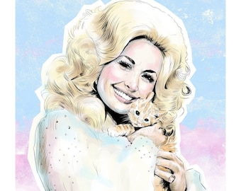 Miss Dolly with Kitty