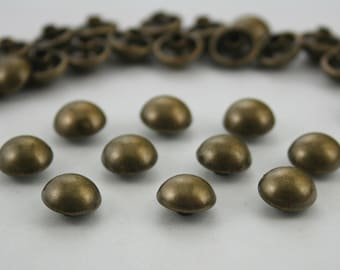 500 pcs.Antique Brass Dome Mushroom Rivets Studs Decorations Findings 10 mm. Do BR10 25 RV WY