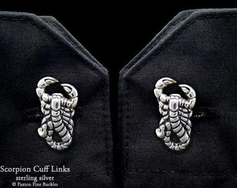 Scorpion Scorpio Cuff Links Sterling Silver