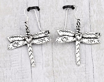 Dragonfly Earrings - Inspirational Jewelry-Romantic Earrings - Handmade Jewelry- E828