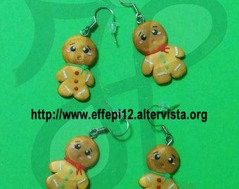 Gingerbread earrings