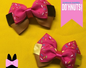 Inspired by The Simpsons: Donut Mini Bow