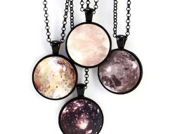 Science Callisto Moon Necklace Jewelry - Science Jewelry - Planet Necklace