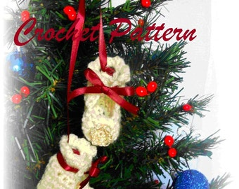 Baby Bootie Doll - Christmas Ornament, Crochet Pattern. PDF Pattern 001