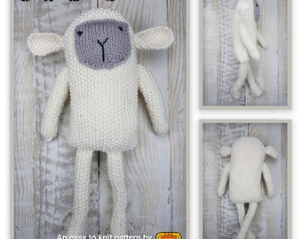 Knitted toy knitting pattern for Sofia Lamb, PDF download
