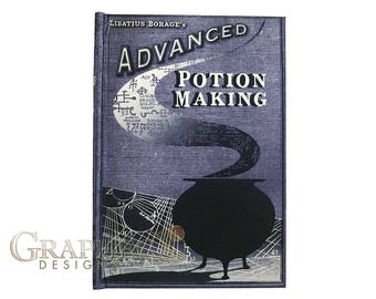 Fan-made Advanced Potion Making Harry Potter inspired personalized hardcover journal notebook