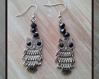 Small cute silver plated earrings
