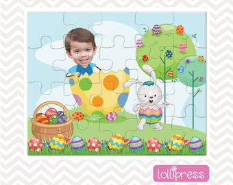Easter Jigsaw Puzzle, Easter Basket Stuffer, Easter Gift for Kids, Easter Basket Gift, Jigsaw Photo Puzzle, Gift for Kids, Personalized Gift