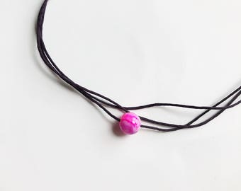 Simple Pink Bead Choker