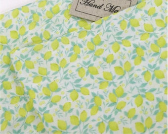 Double Gauze Fabric Lemon By The Yard
