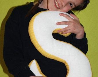 Pillow, letter pillow, pillow, letter, S, decoration, living