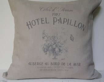 French Pillow Cover. French Country Pillow Cover. Shabby Chic Pillow. French Antiques. Spring Decor. French Linen.
