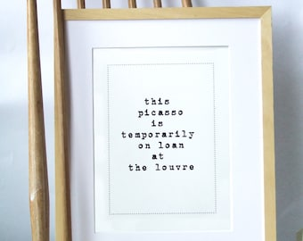House Warming Present -  Funny typography art print , Free Shipping