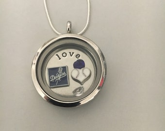 Dodgers floating charm locket