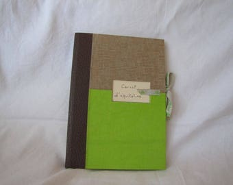 Lime green and natural riding book, link.