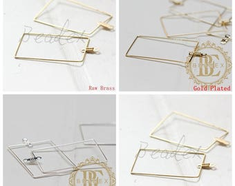 Brass Base / Loop / Charm / Earring Findings / Rectangle (C3319//-F84)