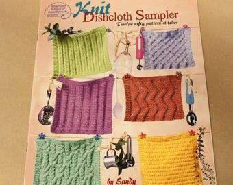 Knit Dishcloth Sampler: Twelve Nifty Pattern Stitches by Sandy Scoville - Dishcloth Patterns / American School of Needlework