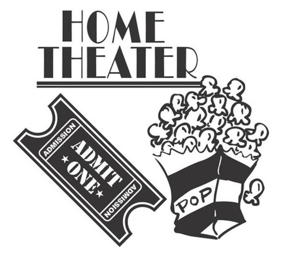 vinyl decal, vinyl stickers, stickers, decals, Theater decal, media decal, Home Theater kit decal, Theater decals, Home decals, sticker wall