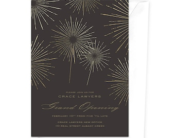 Launch Party Invitations, Grand Opening Invitation, Fireworks Invitation, Opening Night, Business Launch, Product Launch, Startup Launch