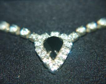 Vintage Rhinestone Hart Necklace