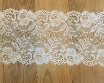 Crochet embroidery lace