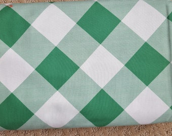 Sale!! Pure Plaid Emerald Green Gingham Fabric by Joel Dewberry Modernist Collection Fabric by the Yard