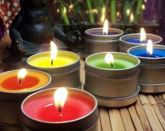 Chakra Candles Set - Open & Balance Your 7 Chakras Using Color and Scent - Meditation Yoga Reiki