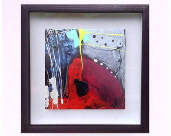 Small framed abstract painting, small framed abstract painting, painting abstract