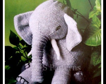 PDF Knitting Pattern for Loveable Elephant Toy - easy to knit Pattern - Instant Download