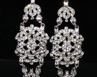 Antoinette - Rhinestone Earrings with a Vintage Flair