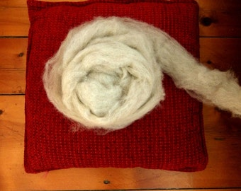 Icelandic Wool Roving, Pale Grey