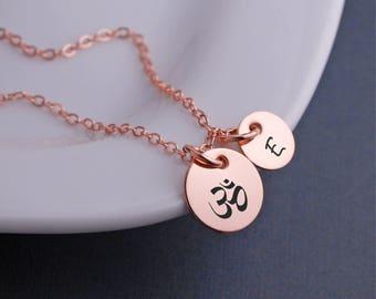 Om Necklace, Yoga Jewelry, Yogi Gift, Christmas Gift for Yoga Lover, Yoga Instructor, Inspirational Jewelry, Meditation Jewelry