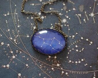Virgo Zodiac Necklace. Virgo Constellation Necklace. Virgo Necklace. Virgo Star Sign Necklace. Zodiac Jewelry.  Astronomy. Zodiac Sign.