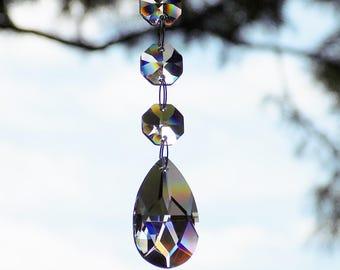 Crystal Suncatcher, Light Catcher, Hanging Crystal, Rearview Mirror Car Charm, Car Suncatcher, Crystal Car Charm